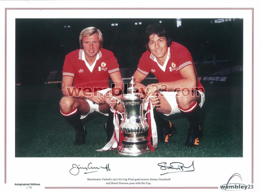 Jimmy Greenhoff/Stuart Pearson Manchester United