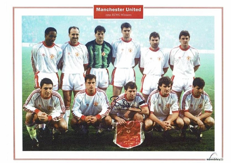 Bryan Robson Manchester United ECWC 1991