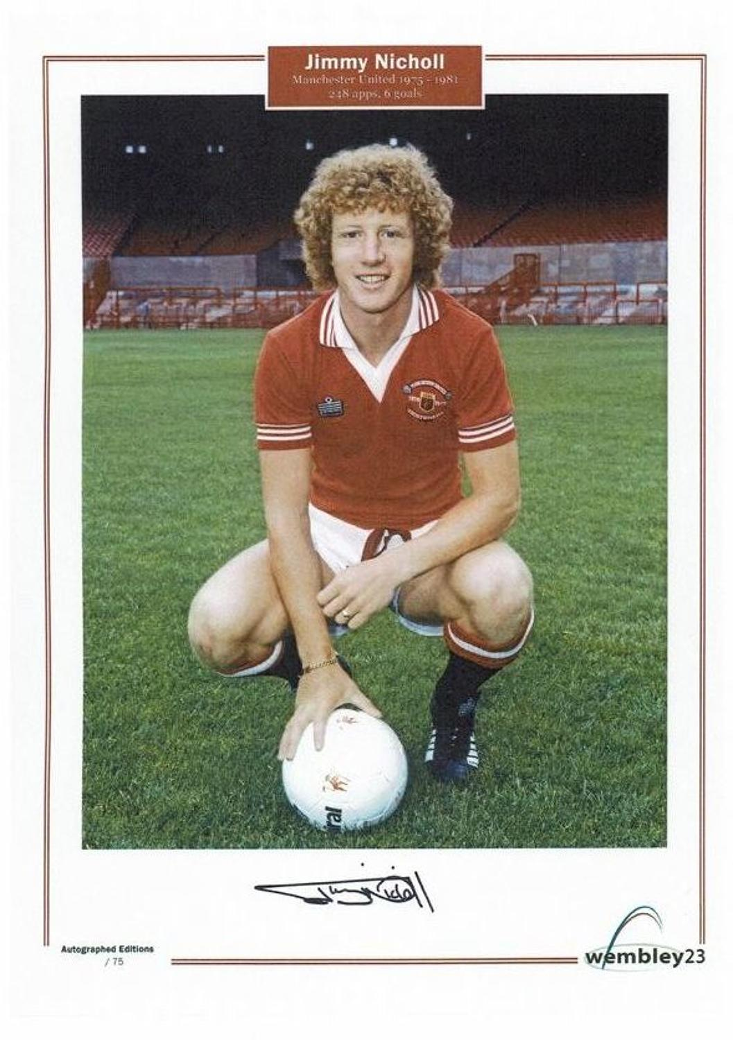 Jimmy Nicholl. Manchester United