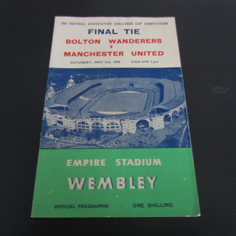 Bolton v Manchester United FA Cup Final 1958