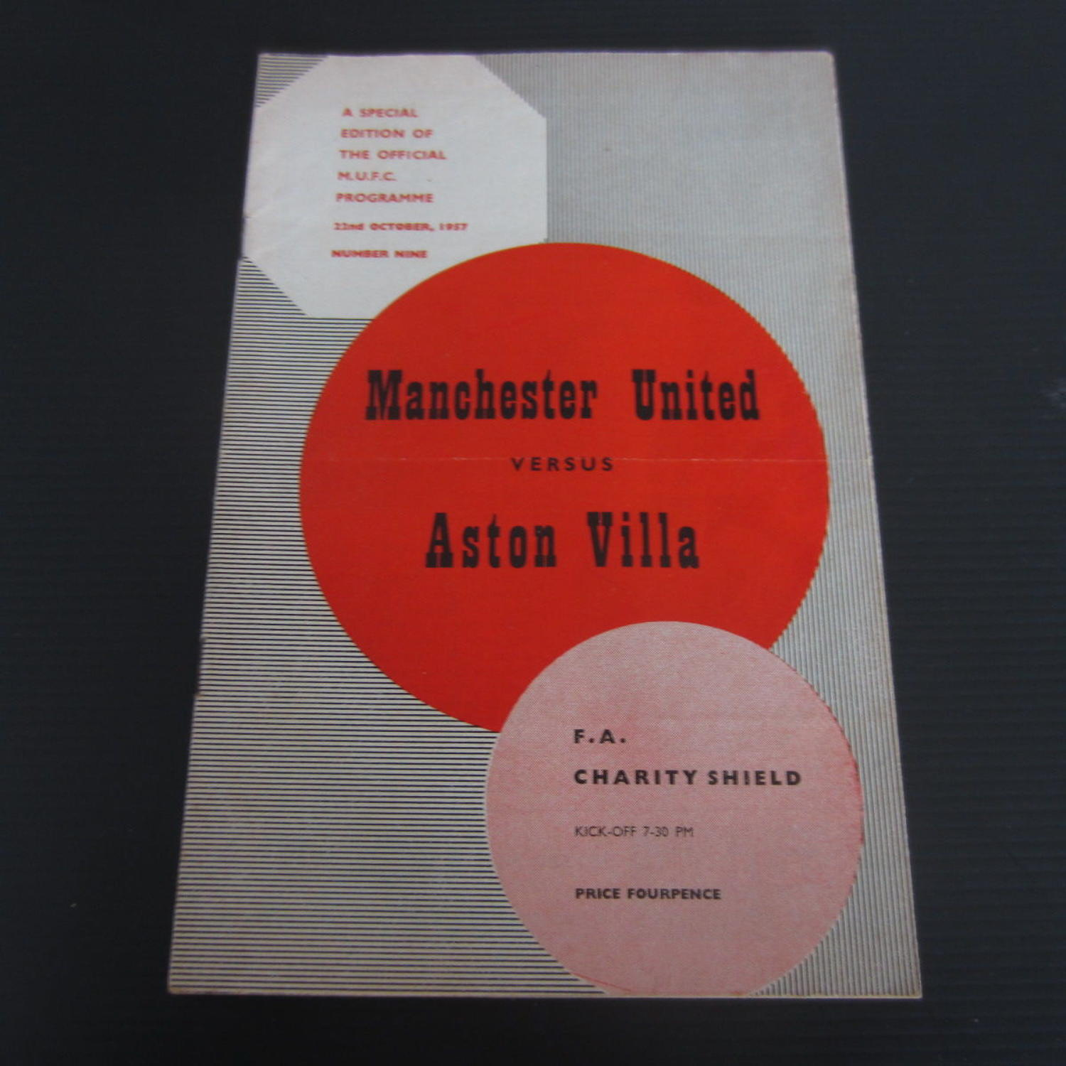Manchester Utd v Aston Villa Charity Shield 1957