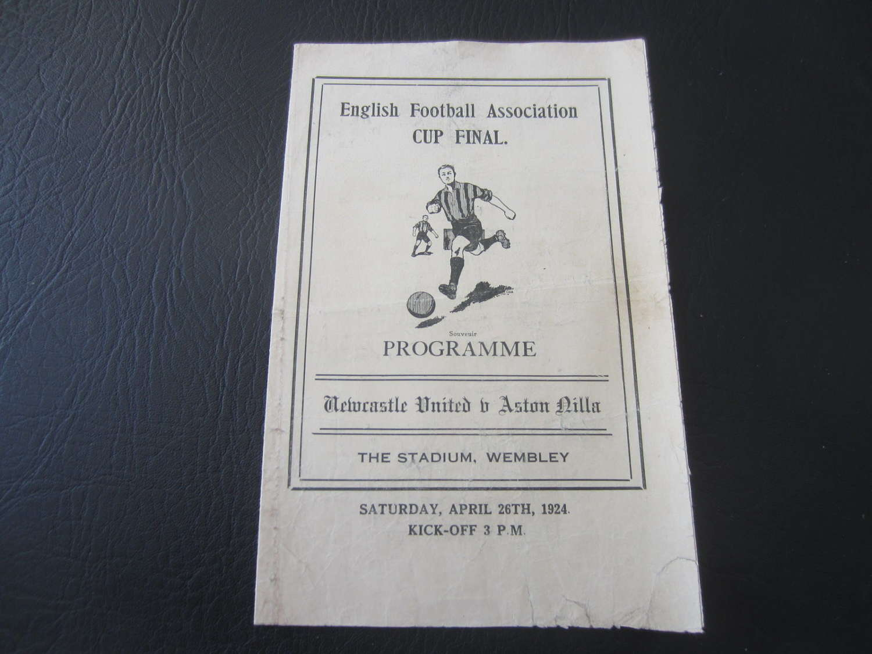 1924 Wembley Cup final pirate  Aston Villa v Newcastle