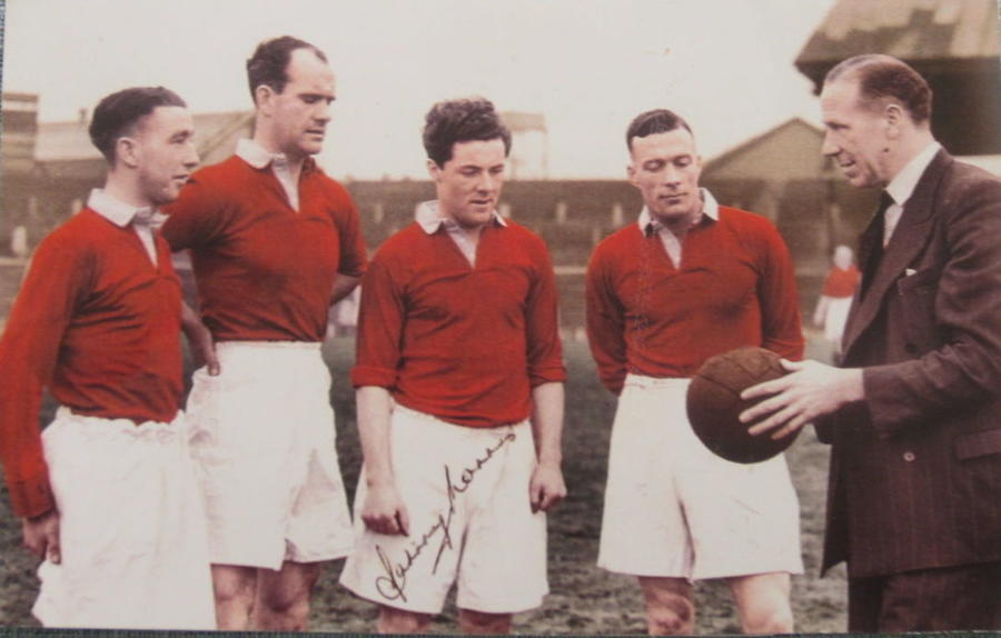 Johnny Morris Manchester Utd autograph