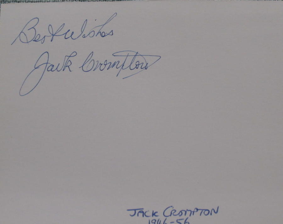 Jack Compton Manchester United signed white card
