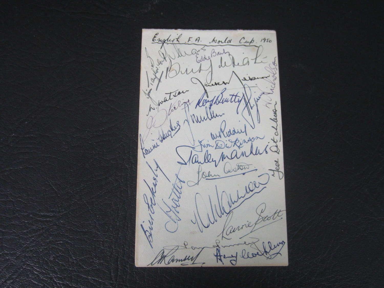 1950 World Cup Squad autograph page