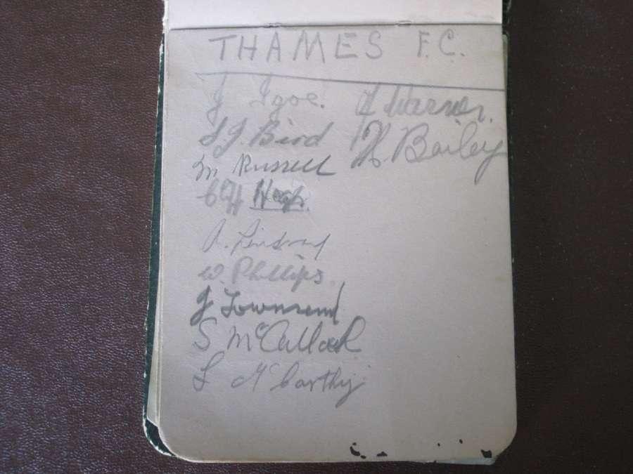Thames FC 1931-32 Autographs