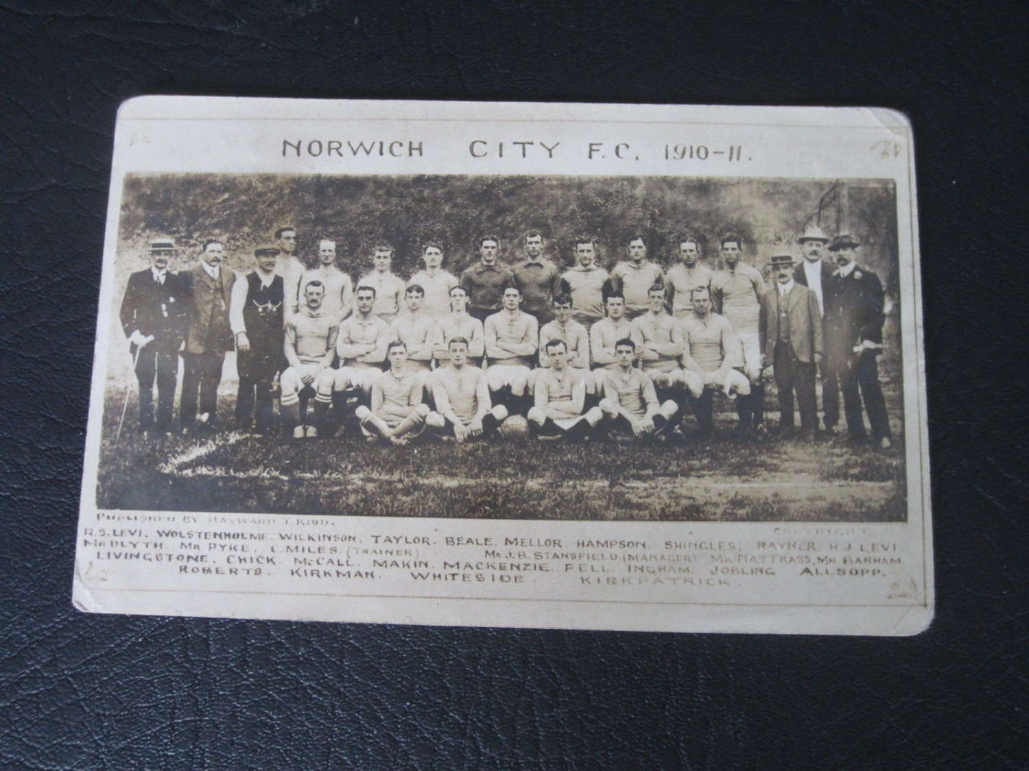 Norwich City Postcard 1910-11