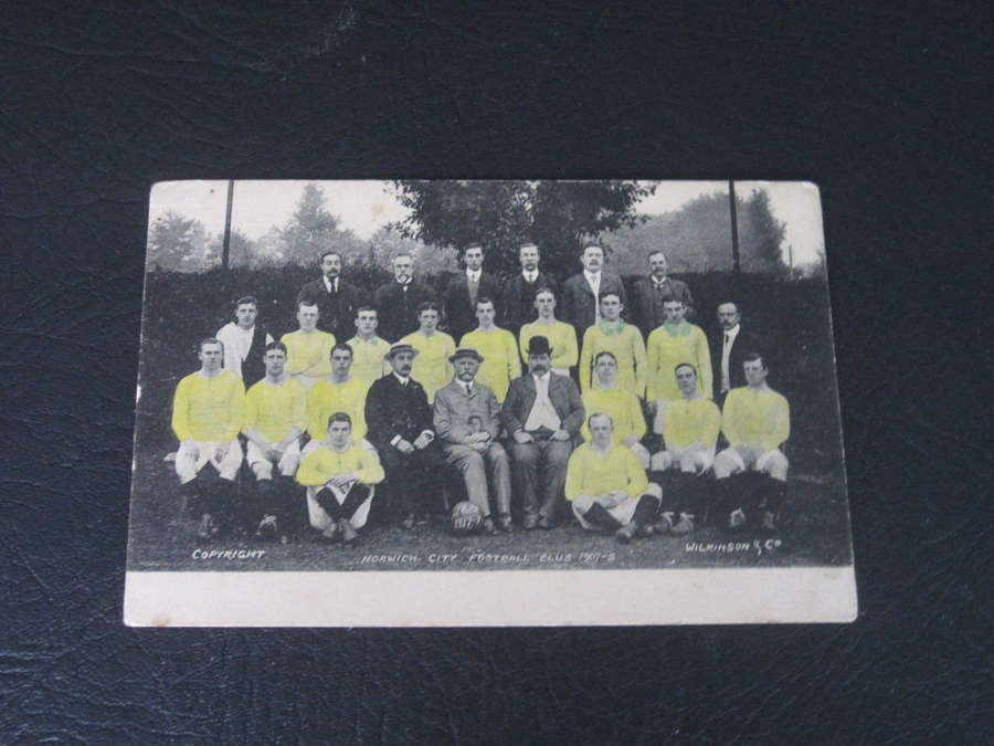 Norwich City 1907-08 Postcard
