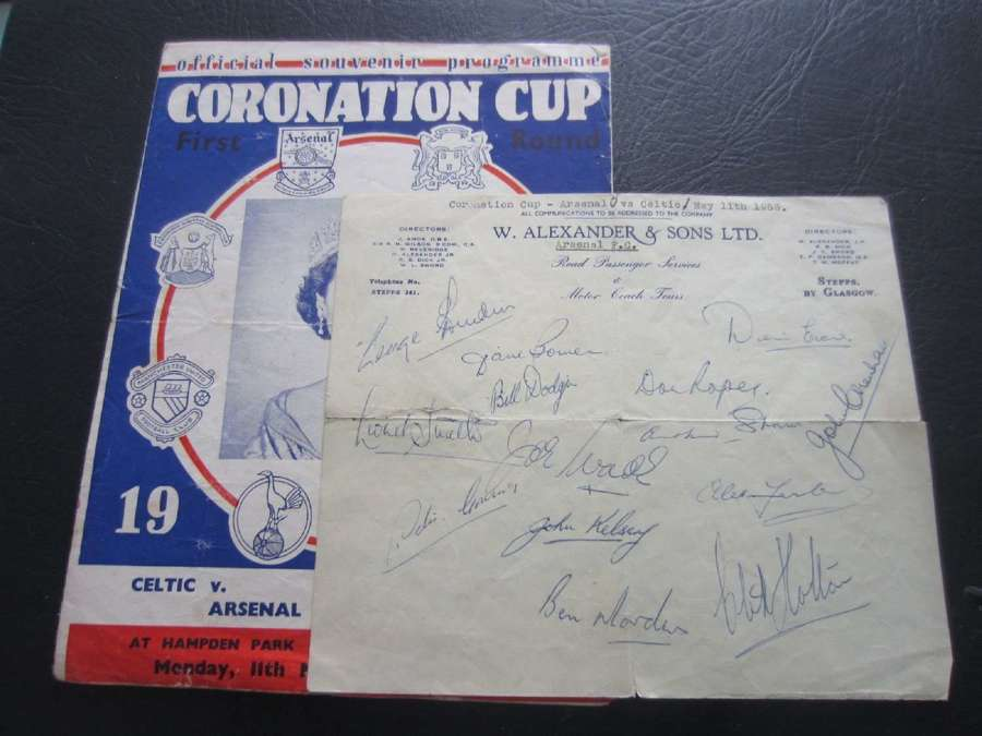 Arsenal Coronation Cup 1953