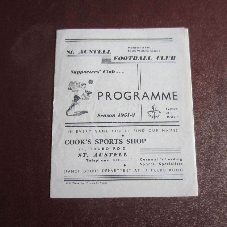 St Austell v Torquay United Res 1951-52